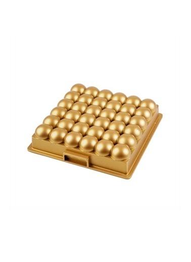 Acar Acar XDD-11740 Atom Döküm Granit Kek Kalıbı Gold Renkli